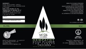 birra di canapa toscana prodotta dal consorzio M126 di Volterra